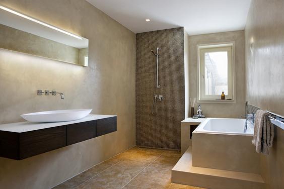 Badkamer voor rust mieke van pijpen interieurarchitect ruimtelijk vormgever creatief - Kleur idee ruimte zen bad ...