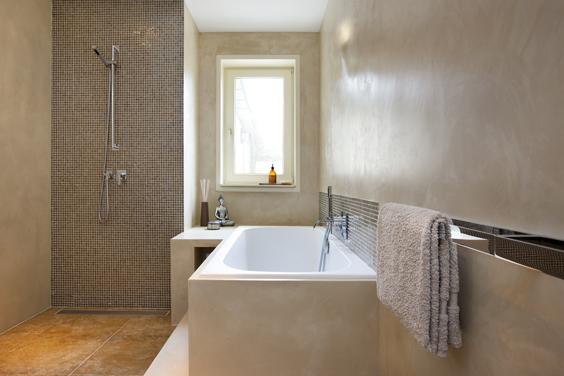 Badkamer voor rust mieke van pijpen interieurarchitect ruimtelijk vormgever creatief - Deco badkamer natuur ...
