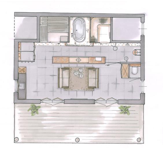 Wellness in prive spa mieke van pijpen interieurarchitect ruimtelijk vormgever creatief - Spa ontwerp ...