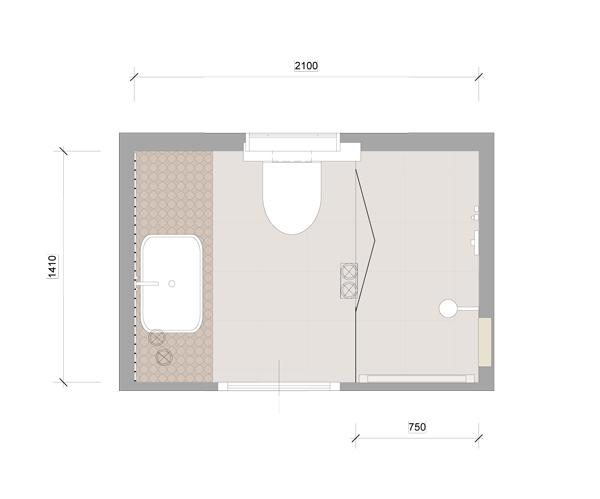 Kleinste badkamer mieke van pijpen interieurarchitect ruimtelijk vormgever creatief - Ruimte van water kleine ruimte ...